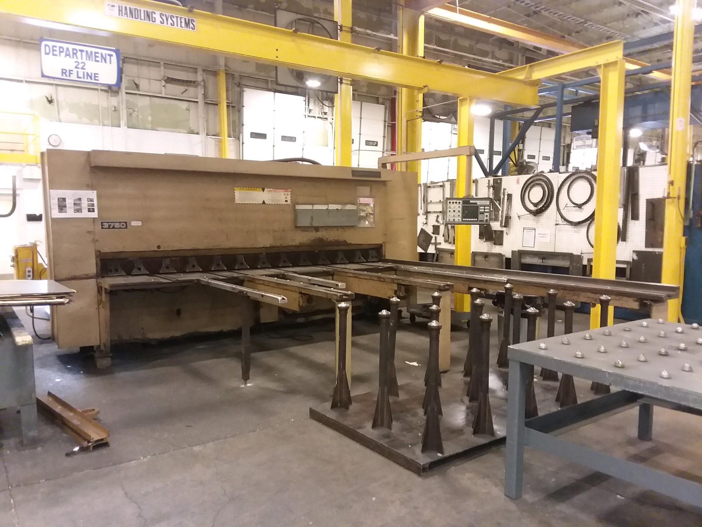 "12' X 3/8"" CINCINNATI MODEL #3750 X 12 CNC HYDRAULIC POWER SHEAR: STOCK 10033"