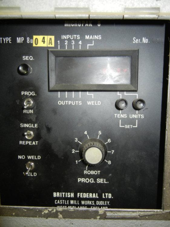 British Federal Spot Welder, Model Stronghold, 100 KVA, Stock No. 9617