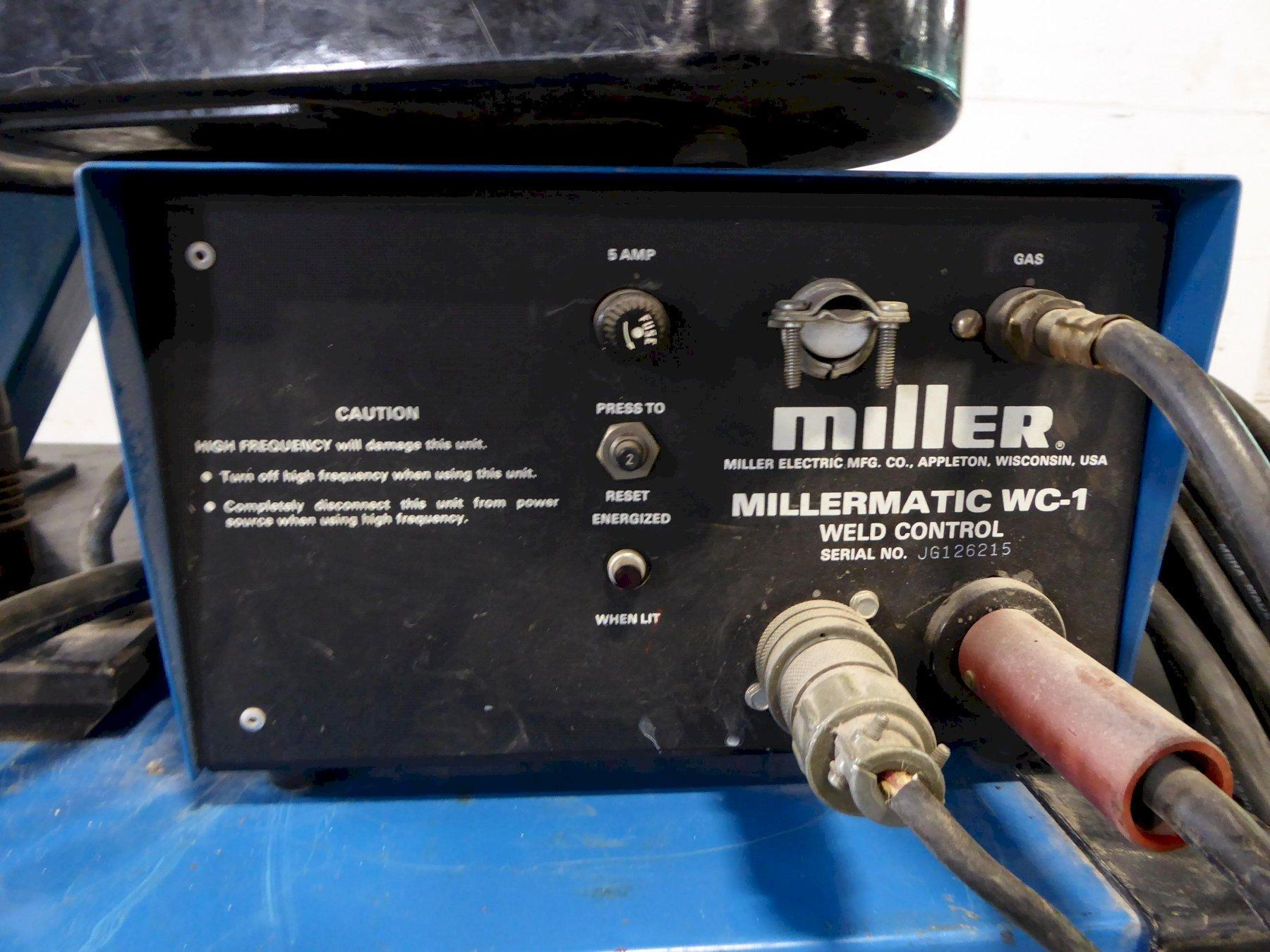 200 Amp Miller CP-200 Constant Potential DC Arc Welding Source, 10A Feed, Spoolmatic 1 Gun