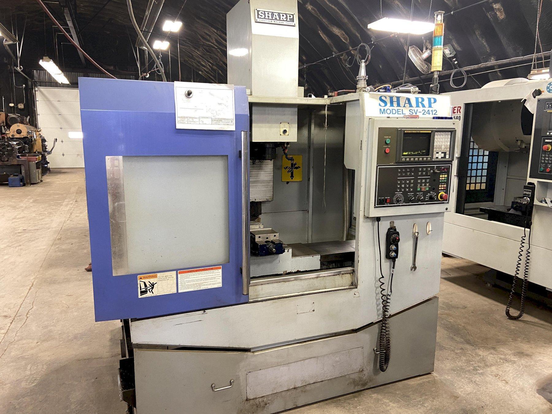 Sharp SV-2412 CNC Vertical Machining Center, new 2006