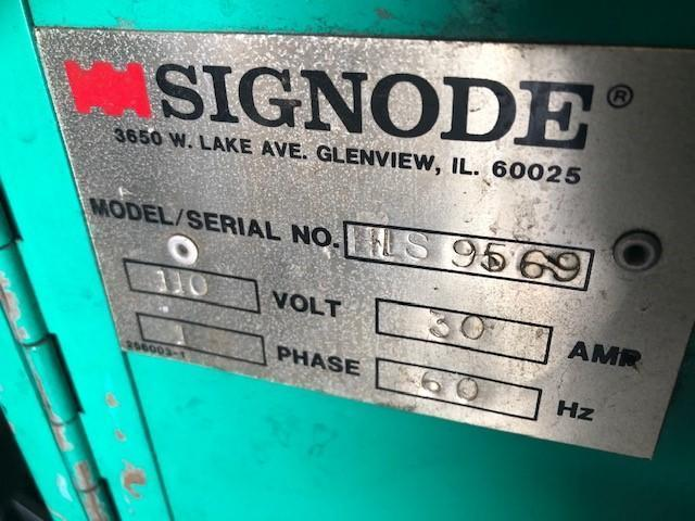 AUTO/SEMI AUTO SIGNODE SPIRAL GRIP PALLET STRETCH WRAPPING MACHINE STOCK# 2723