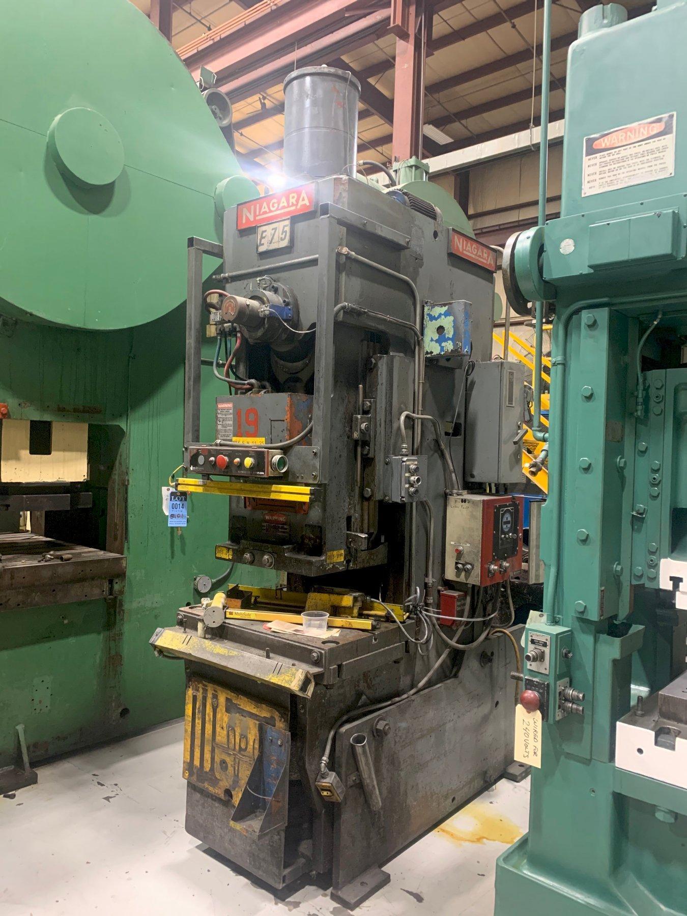 75 Ton NIAGARA E75, C-Frame Press
