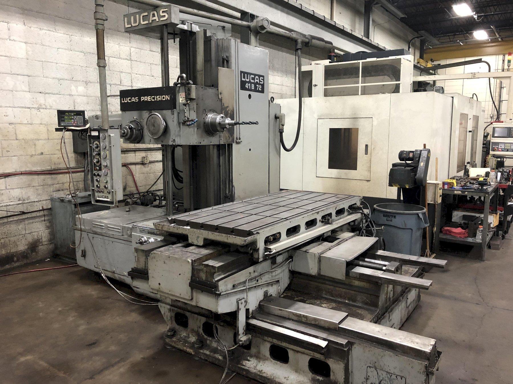 "4"" Lucas Precision 41B-72 Horizontal Table Type Boring Mill"