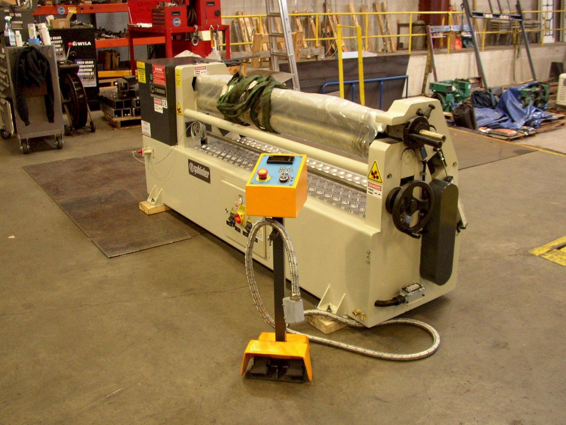 "4.72"" Diameter x 4 ft NEW Sahinler Plate Bending Roll - 3 Roll - Initial Pinch Type Model IRM 1270-120"