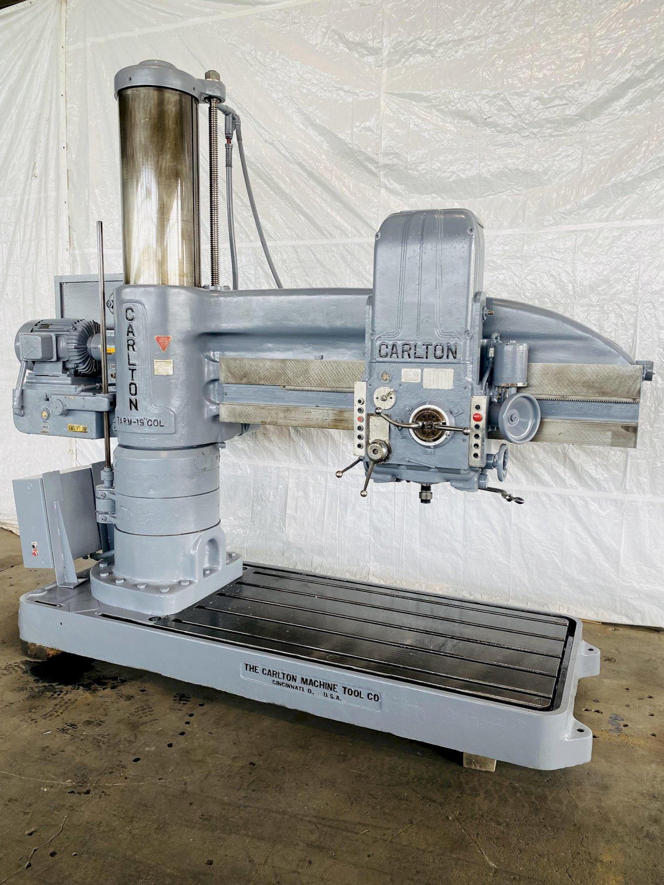 "7' X 19"" CARLTON MODEL #4A RADIAL ARM DRILL. STOCK # 0522021"