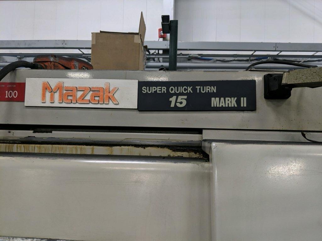 MAZAK SQT-15 MARK II CNC LATHE. STOCK # 0416621
