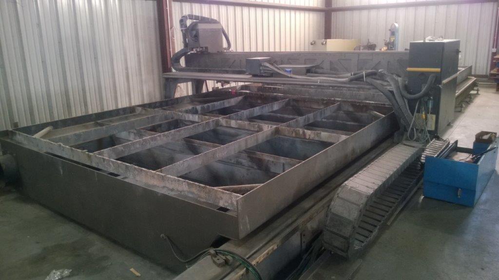 10' X 32' MULTICAM SERIES 6000 HYPERTHERM HPR-130 CNC PLASMA TABLE. STOCK # 0743521