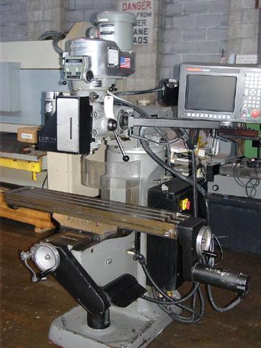 "BRIDGEPORT SERIES I 3-AXIS CNC, Anilam 3200 MK CNC Control, X=30"", 9"" x 48"" Tbl, 4200 RPM, 2 HP, From Medical, 1991."