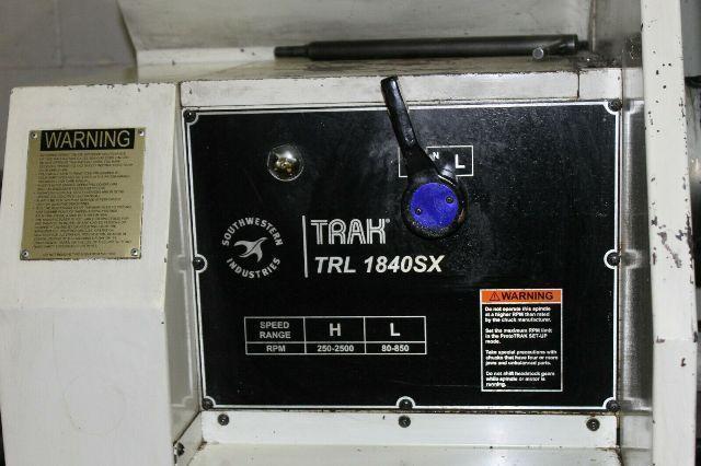 Southwestern Industries Trak TRL 1840SX (2009) Prototrak SLX CNC Control