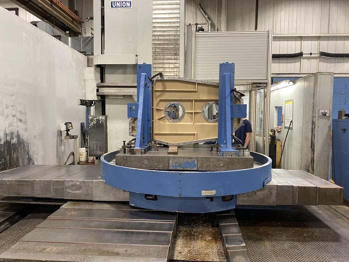 "5"" UNION CNC Horizontal Boring Mill, Model TC130, Heidenhain TNC426 CNC Control, 63"" x 79"" Full Contouring Rotary Table, X=98"", Y=98"",W=59"" Z(Quill)=30"", 3000 RPM, New 2001."