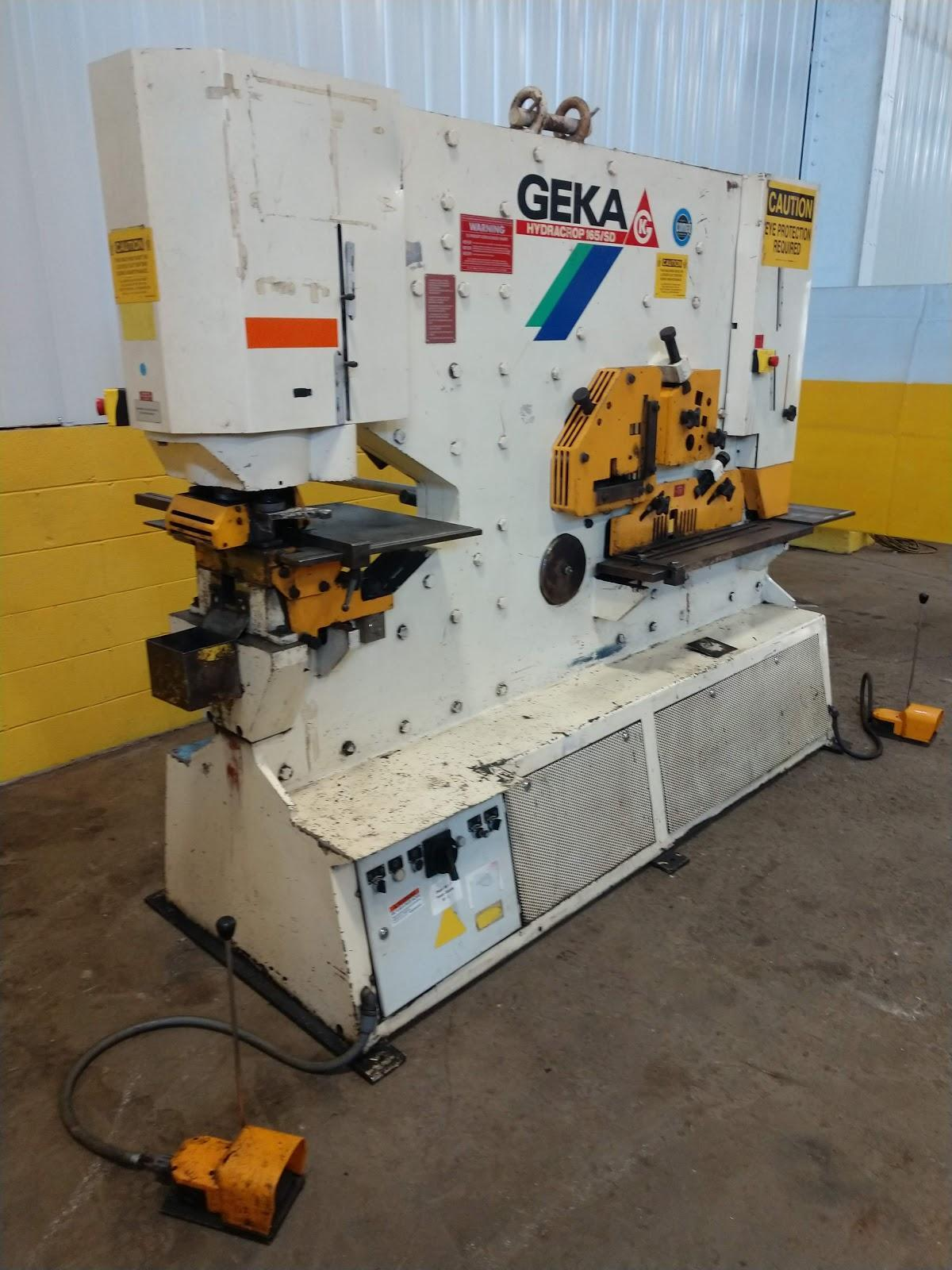 165 TON GEKA HYDRACROP 165-SD HYDRAULIC IRONWORKER: STOCK #12948