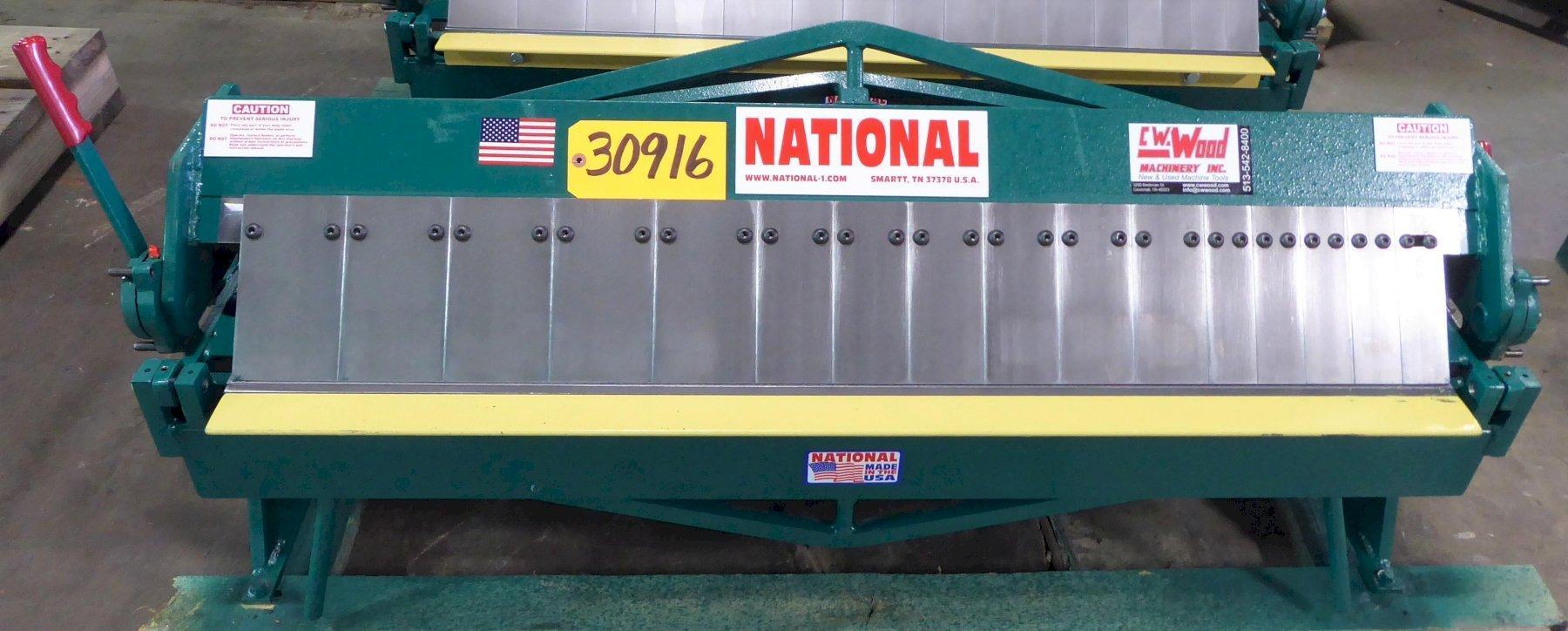 """48"""" x 16 Ga. National Box and Pan Brake No. U4816, Bench Model, New"""