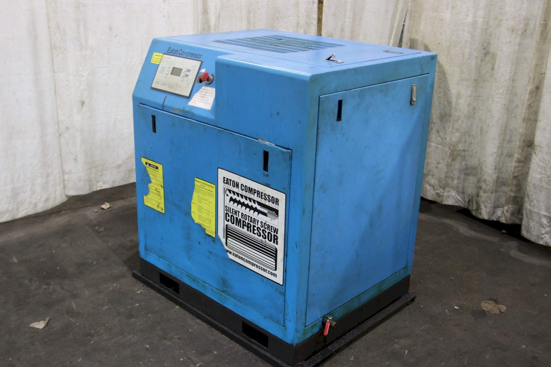 10 HP EATON ROTARY SCREW AIR COMPRESSOR: STOCK #69738