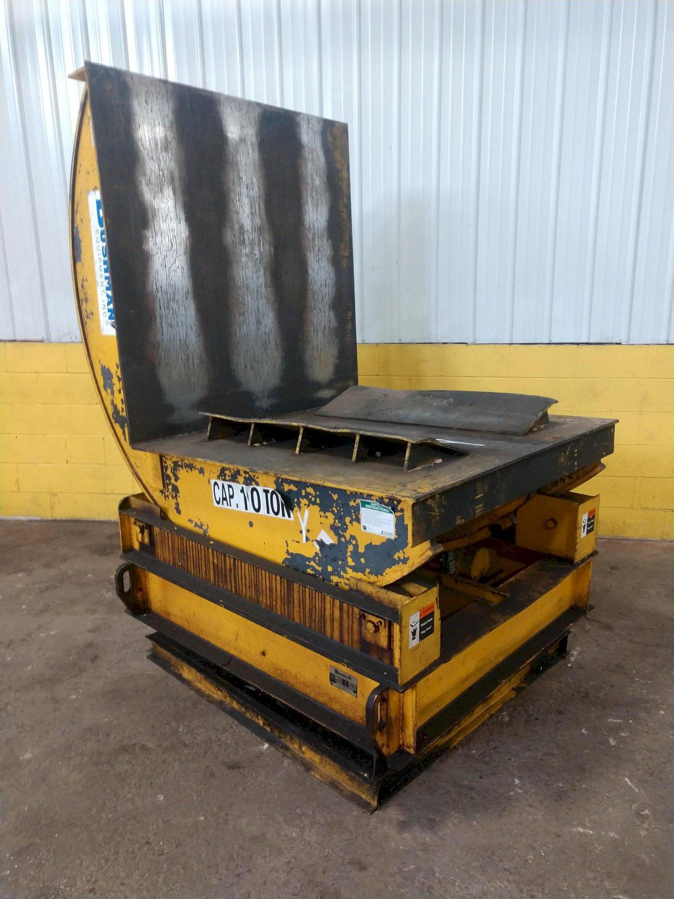 20,000 LBS BUSHMAN COIL TIPPER / UPENDER WITH BASE ROTATION: STOCK #14202