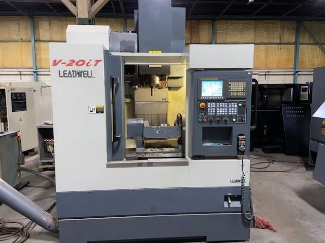 "Leadwell V20i CNC 5-Axis Vertical Machining Center, Fanuc 0iMD, 20""/16""/19"" Travels, 12K Spindle, 24 Position ATC, 8.5"" Trunnion Table, Ethernet, 2012"