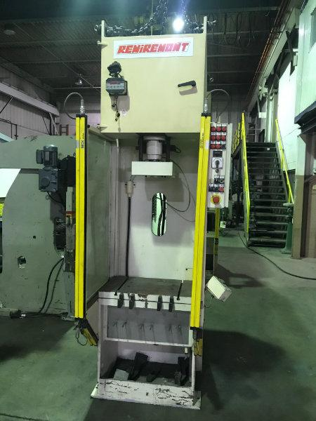 USED REMIREMONT 20 TON, PHC 20 VAR, HYDRAULIC C-FRAME PRESS, 2000, Stock No. 10583