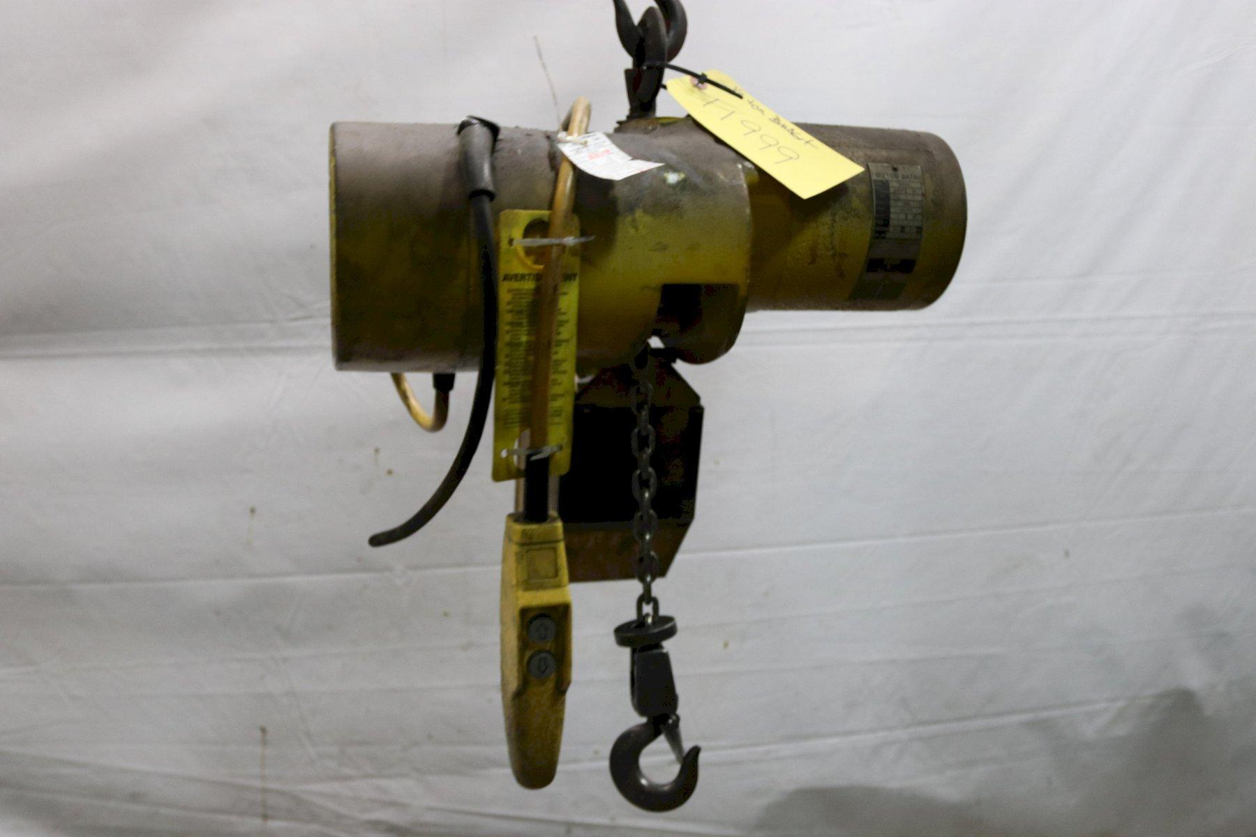 1/4 TON BUDGIT ELECTRIC POWERED CHAIN HOIST: STOCK #11999