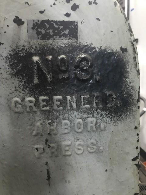 3 TON GREENERD ARBOR PRESS MODEL NO. 3