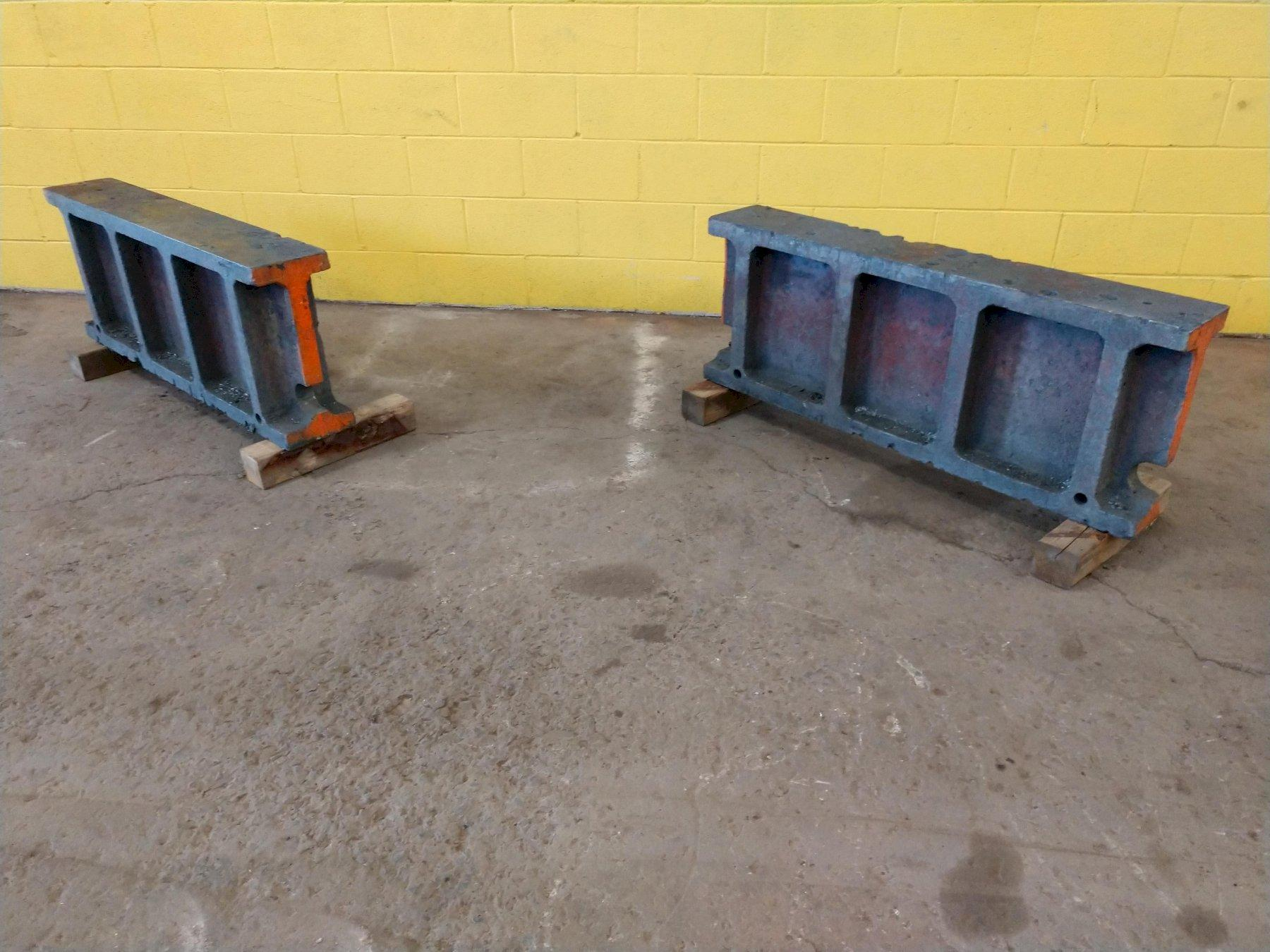 "(2) 8"" x 48"" x 18-3/8"" CAST PARALLEL SET UP BLOCKS: STOCK 12886"
