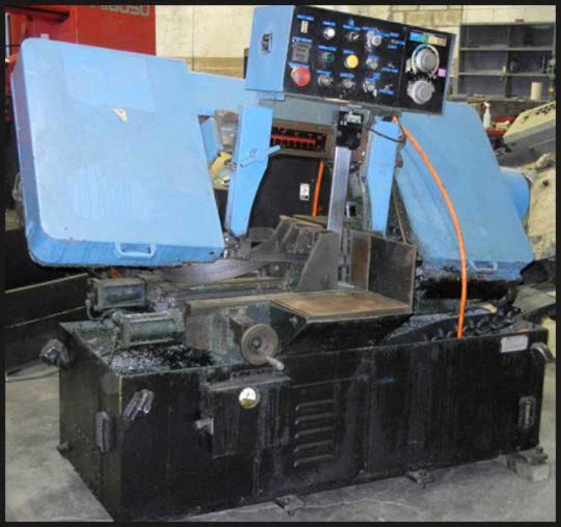"USED SPARTAN SERIES PA-13/N AUTOMATIC HORIZONTAL BANDSAW, Model PA-13/N, 13"" x 14"", Stock No. 8482"