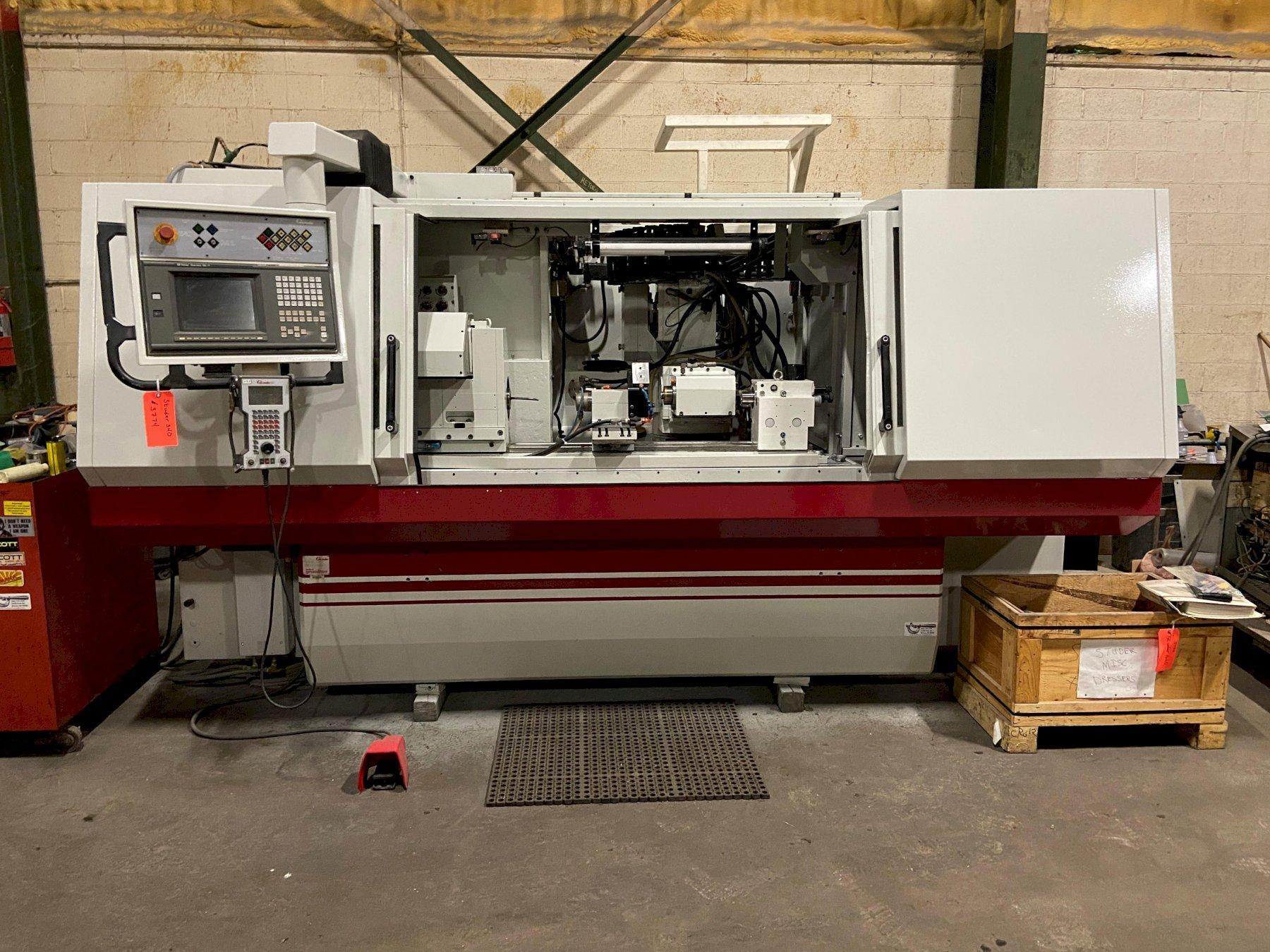 "Studer S-40 CNC Cylindrical Grinder, Fanuc 16T, 13.8"" x 39.4"" ,(2) I.D. Attachments, (1)20"" Dia Wheel, 10 Horsepower, Table Mounted Dresser, T/S,  Plunge, 1997"