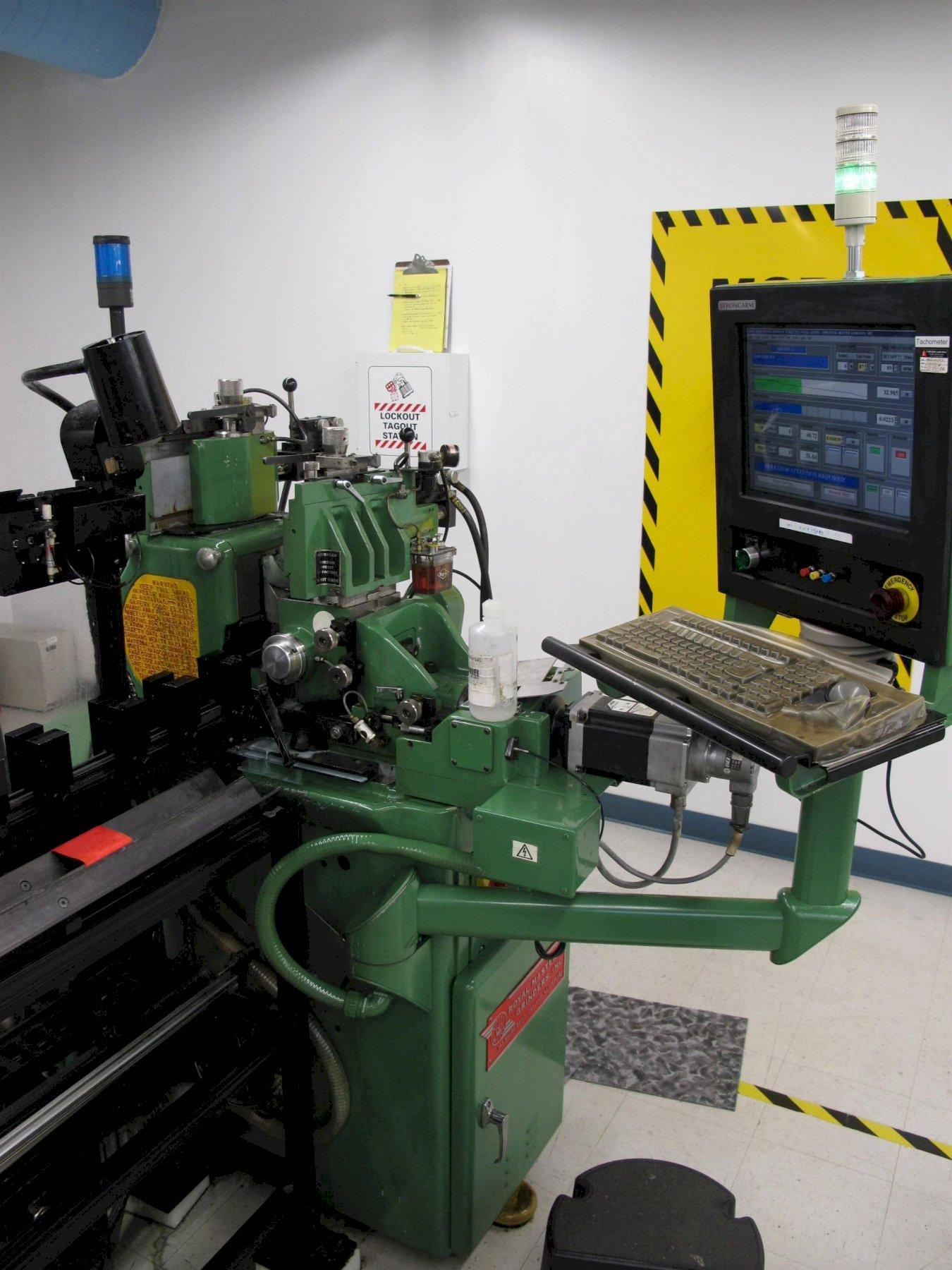 """Royal Master Generation 5.1 CNC Guidewire Profile Centerless Grinder, Grinding Wire from: .0001""""to .250"""", up to 17', with Scale Feedback to: .000004"""", Touch Screen CNC Windows Based Control (Upgraded), 7.5 HP."""