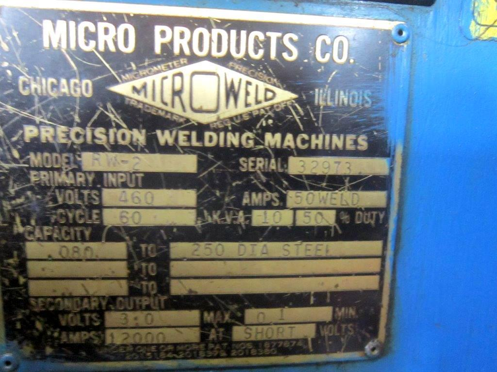 Micro Weld Model RW-2 Ring Butt Welder