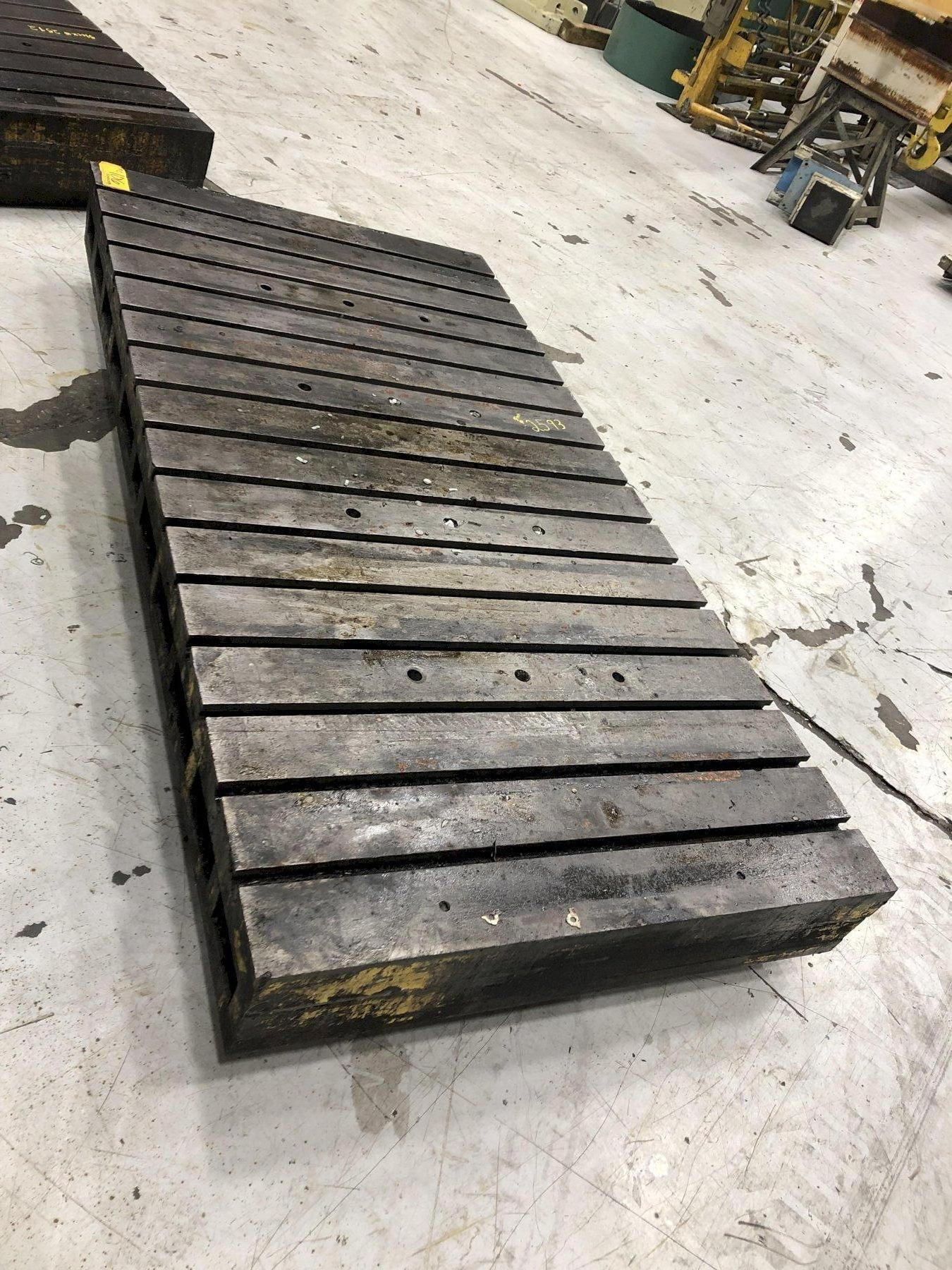 "96"" x 48"" x 9"" Thick T-Slotted Bolster Plate"