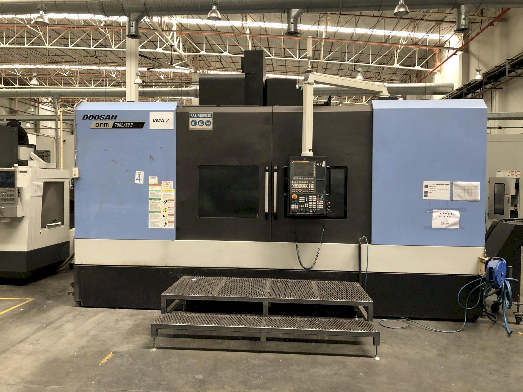 Doosan DNM750L/50II CNC Vertical Machining Center, Fanuc i, 85