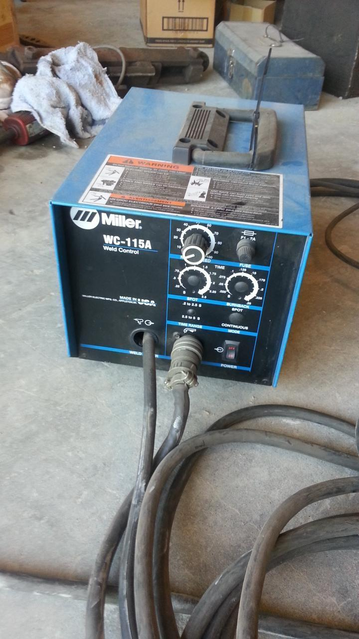 (1) PREOWNED MILLER WELD CONTROLLER, MODEL #: WC-115A, S/N: LA092436