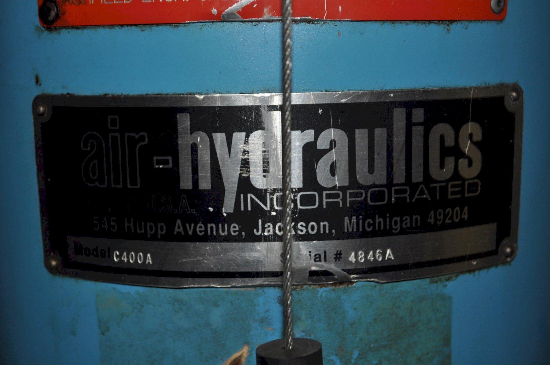 10 TON AIR-HYDRAULICS C FRAME PRESS