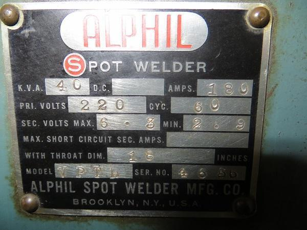 40 KVA Alphil Press Type Spot Welder