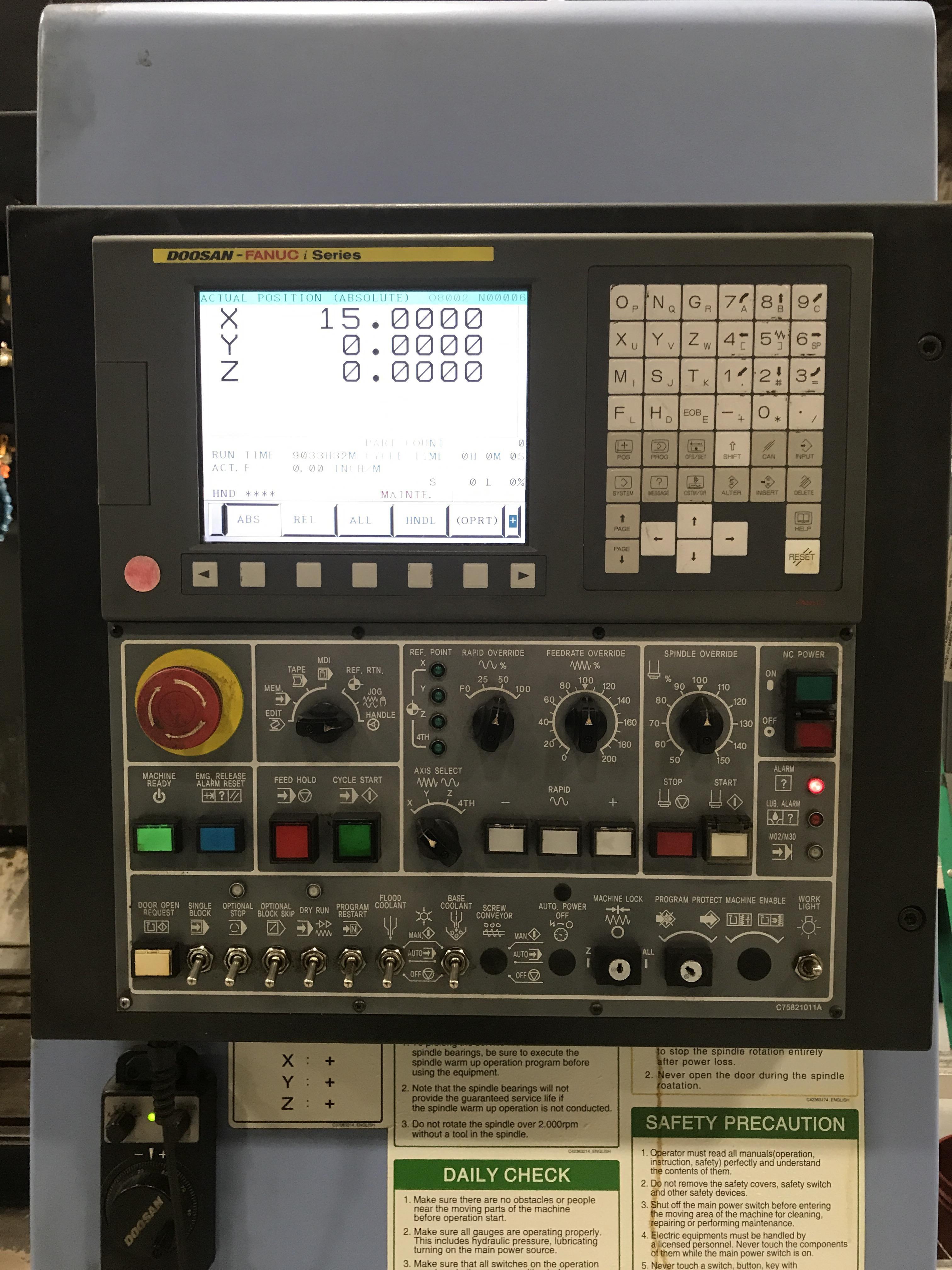 DOOSAN MV3016L Vertical Machining Center