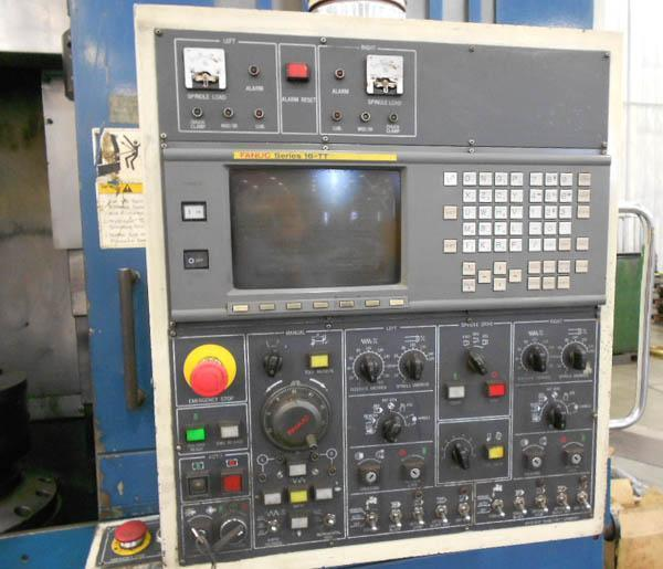 "DAEWOO PUMA V-15-2SP Twin Spindle Vertical Turning Center, Fanuc 16-TT CNC Control, (2) 15"" 3-Jaw Chucks, 31.5"" Swing, 25"" Turning Diameter, (2) 8 Position Turrets, New 1996."