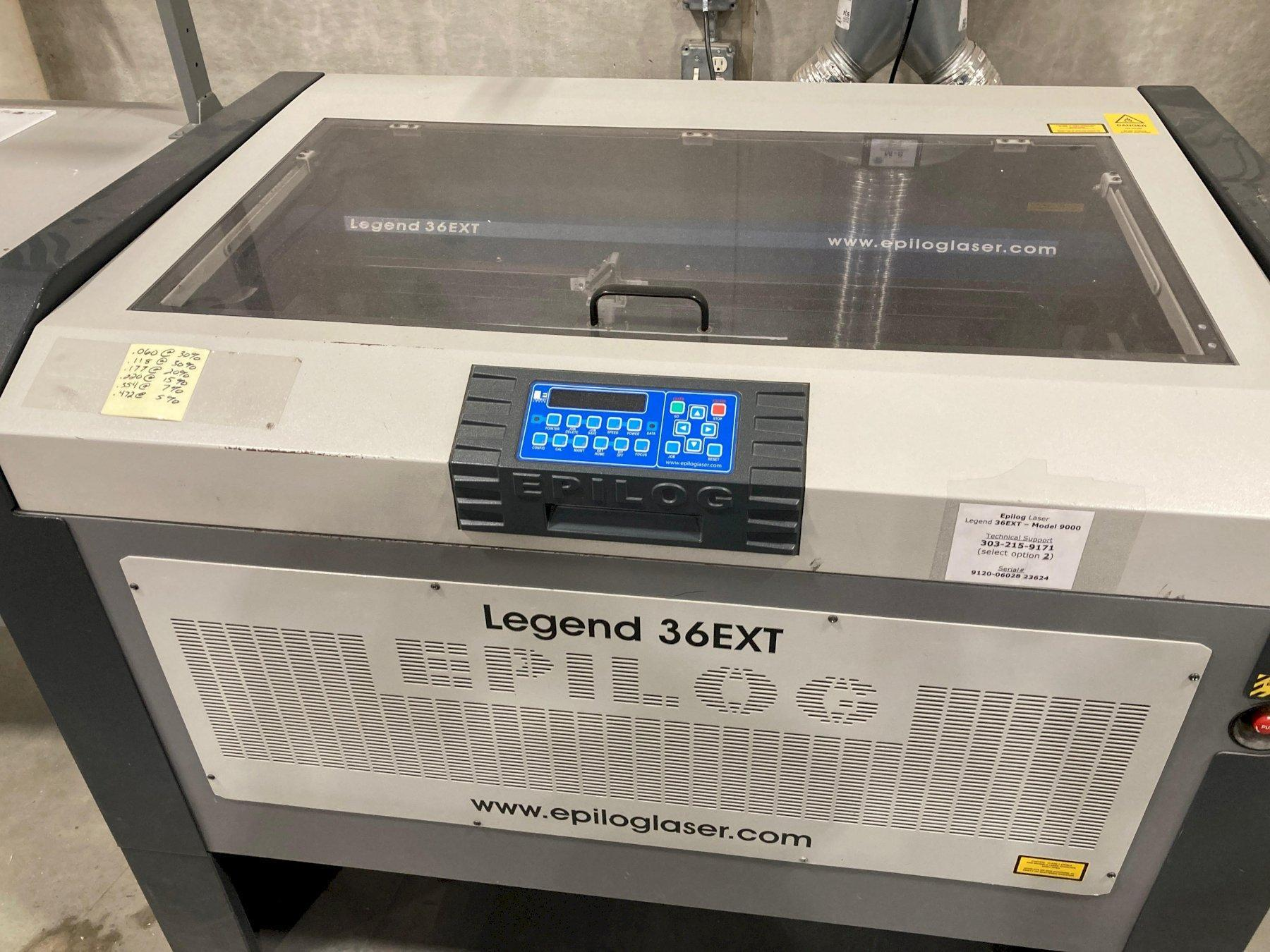 Epilog Legend 36EXT Model 9000 120W Laser engraver