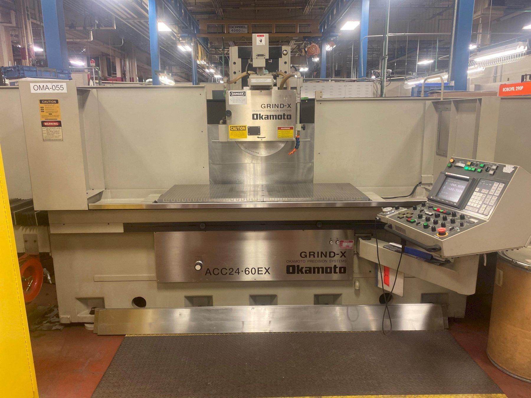 Okamoto ACC 24-60EX CNC Surface Grinder, New 2012.