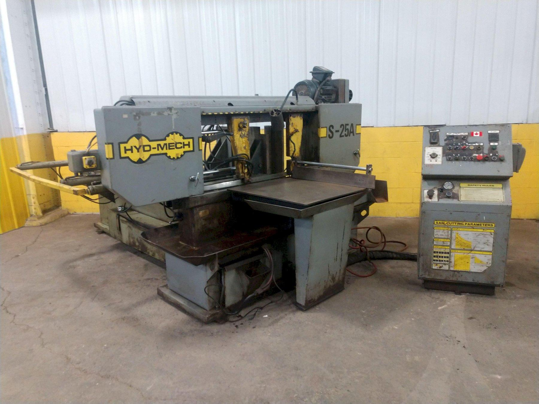 """18"""" X 27"""" HYD-MECH MODEL S-25A AUTOMATIC HORIZONTAL MITRE SAW: STOCK #14155"""