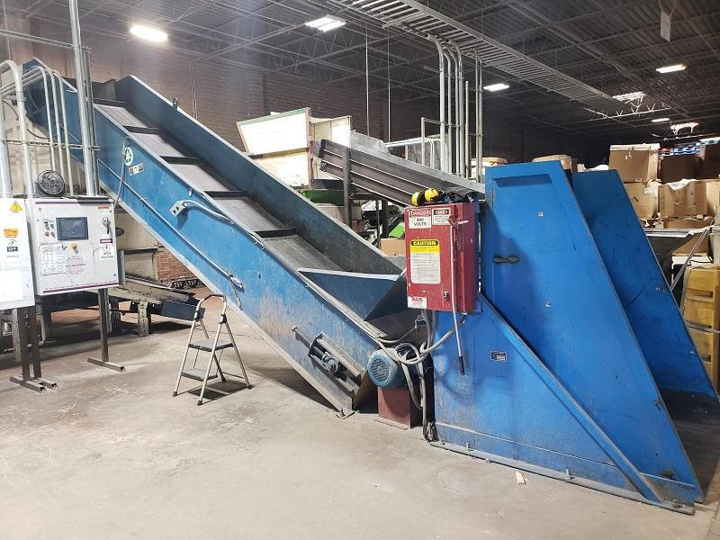 Vecoplan Used Shredder RG 52/100 System with EconoGrind 100hp Granulator