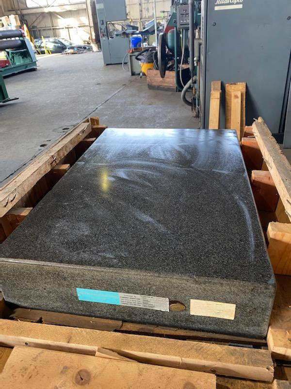 "24"" X 36"" X 6"" GRANITE SURFACE PLATE. STOCK # 1160420"