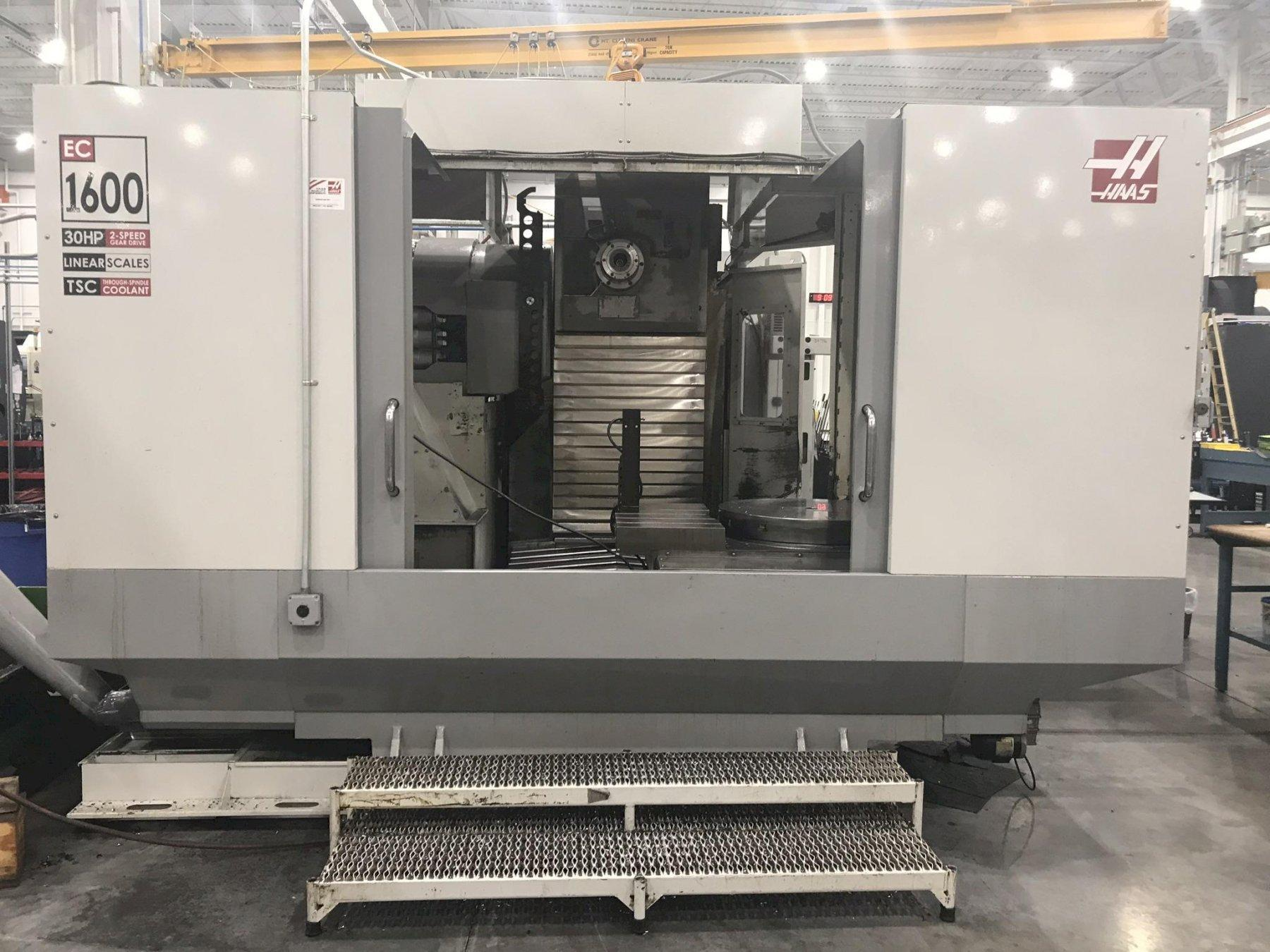 USED HAAS MODEL EC-1600 HORIZONTAL CNC MACHINING CENTER WITH BUILT IN ROTARY TABLE