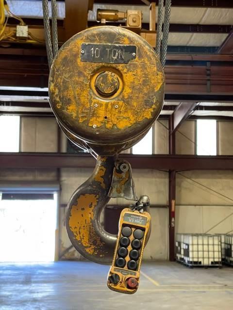 10 TON X 45' WIDE X 147' LONG RMT SINGLE GIRDER OVERHEAD CRANE SYSTEM. STOCK # 0520021