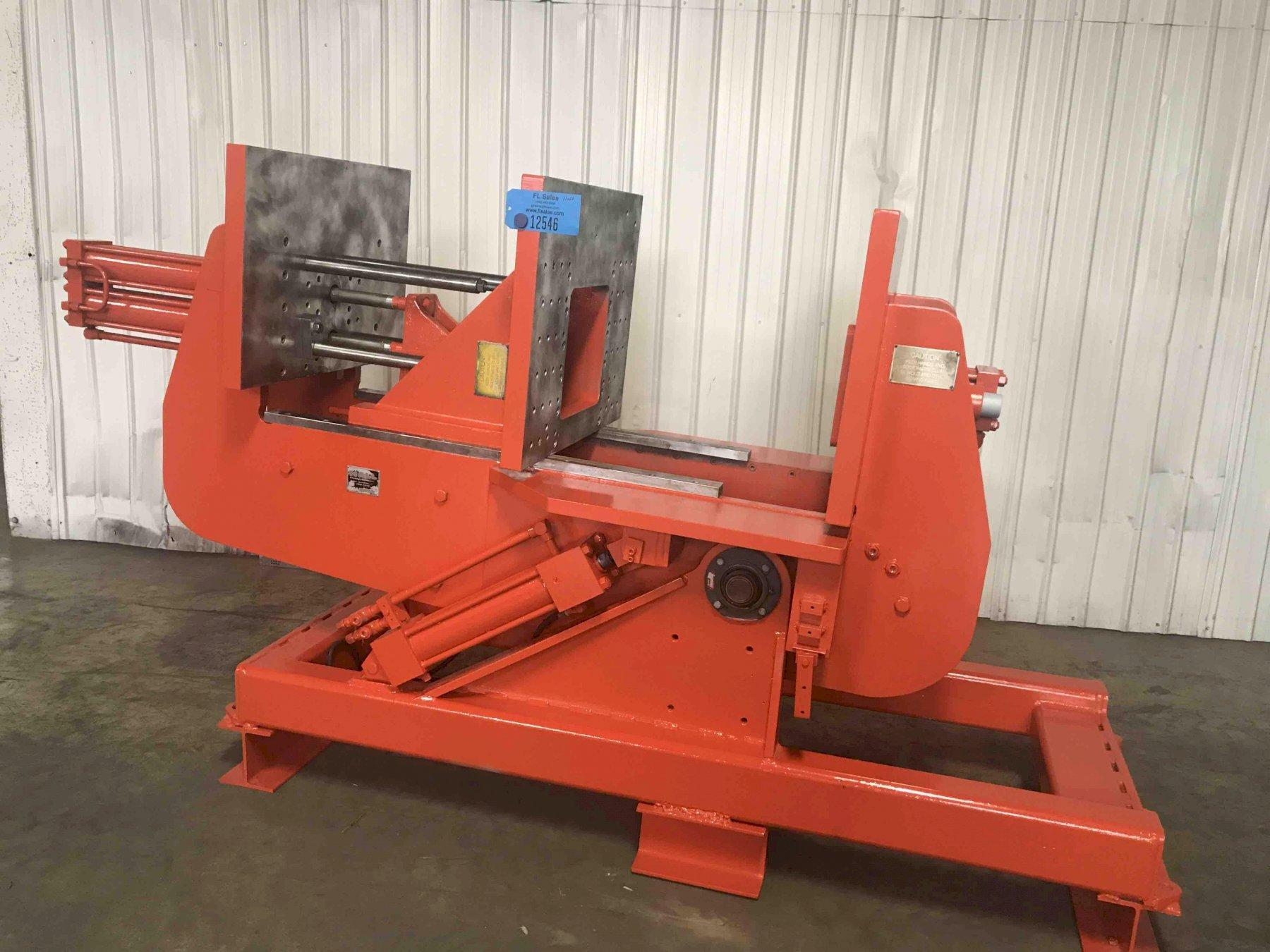 """Hall model hm2 permanent molding machine s/n 209897, twin cylinder type, 24"""" x 30"""" platen, offered cleaned, painted and checked out"""