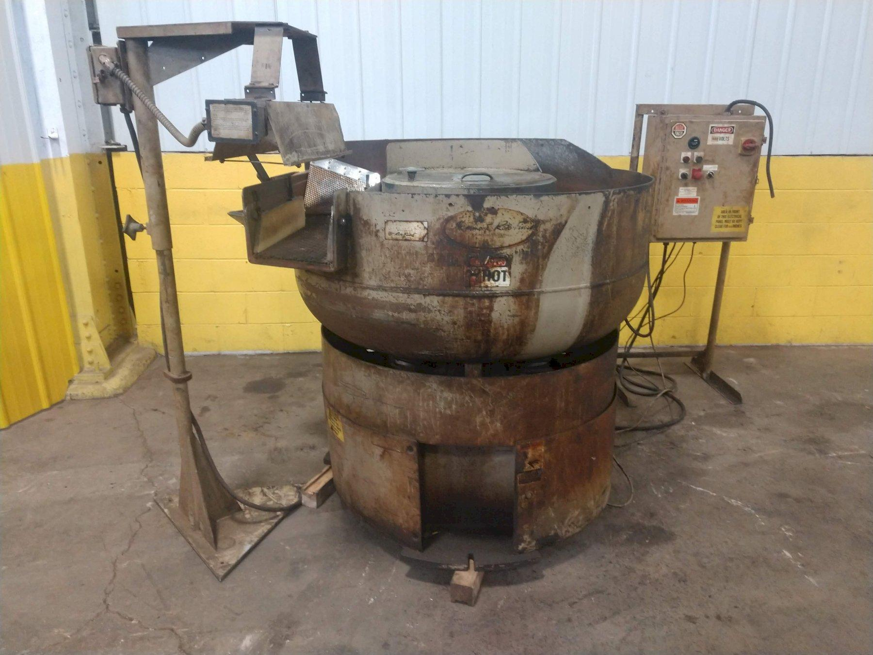 "5 CUBIC FOOT ROTO-FINSIH MODEL #ER-405D-00-A30 ""SPIRATRON"" VIBRATORY BOWL FINISHER"
