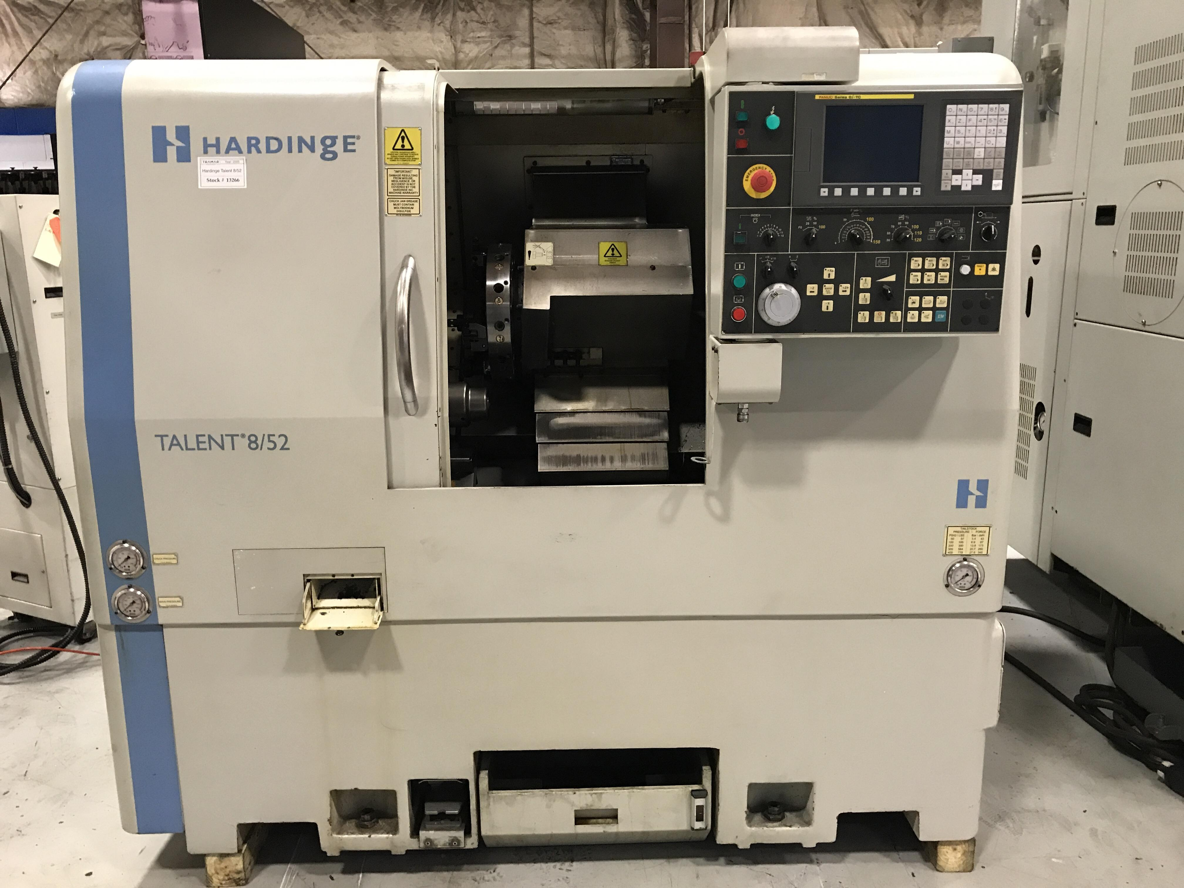 2005 Hardinge Talent 8/52 - CNC Horizontal Lathe