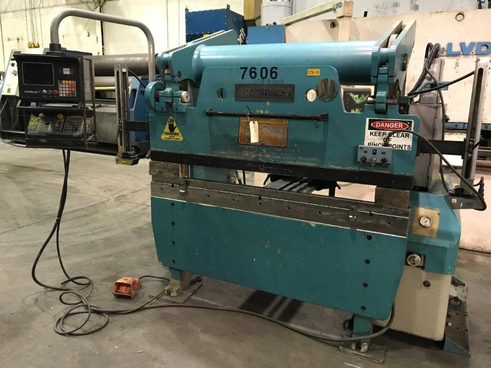 USED ACCURPRESS CNC HYDRAULIC PRESS BRAKE, Model 7-60-6, 60 ton x 6', Stock No. 10469