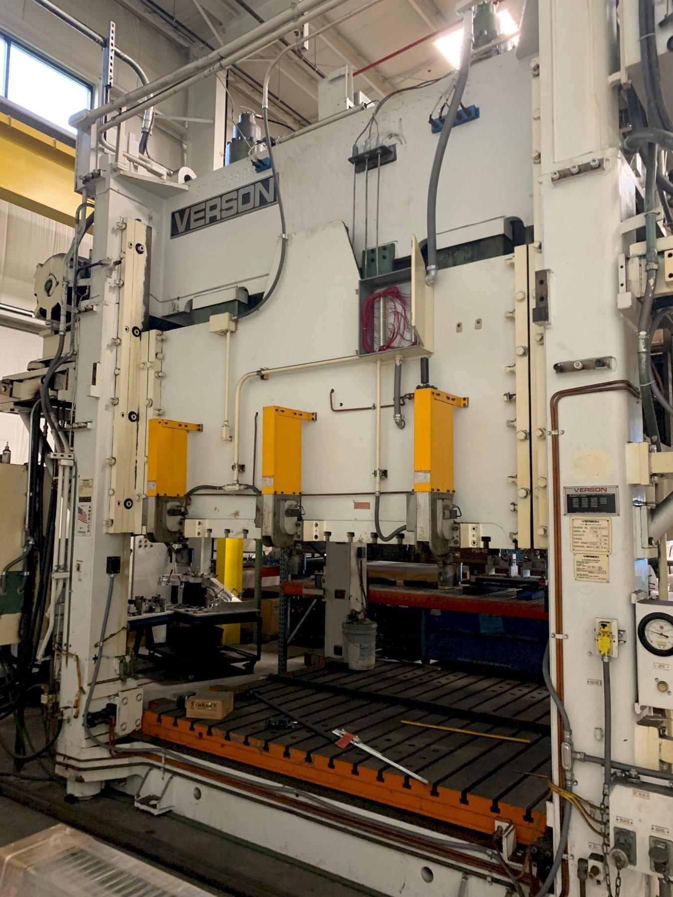 400 TON VERSON 400-HD4-108-964T HYDRAULIC PRESS. STOCK # 0954520