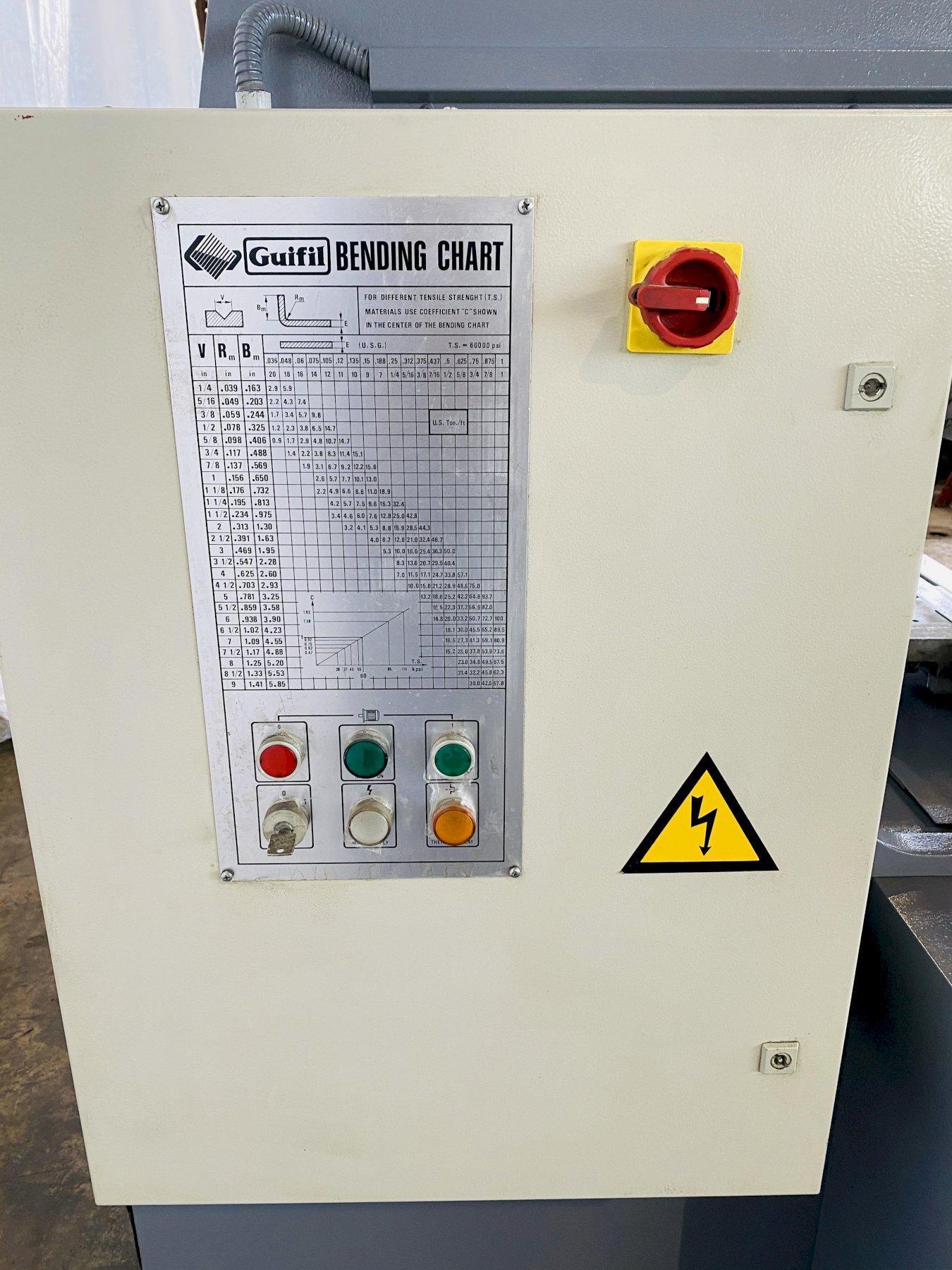 "66 TON X 80"" GUIFIL PE-20/60 CNC HYDRAULIC UP ACTING PRESS BRAKE. STOCK # 0847320"
