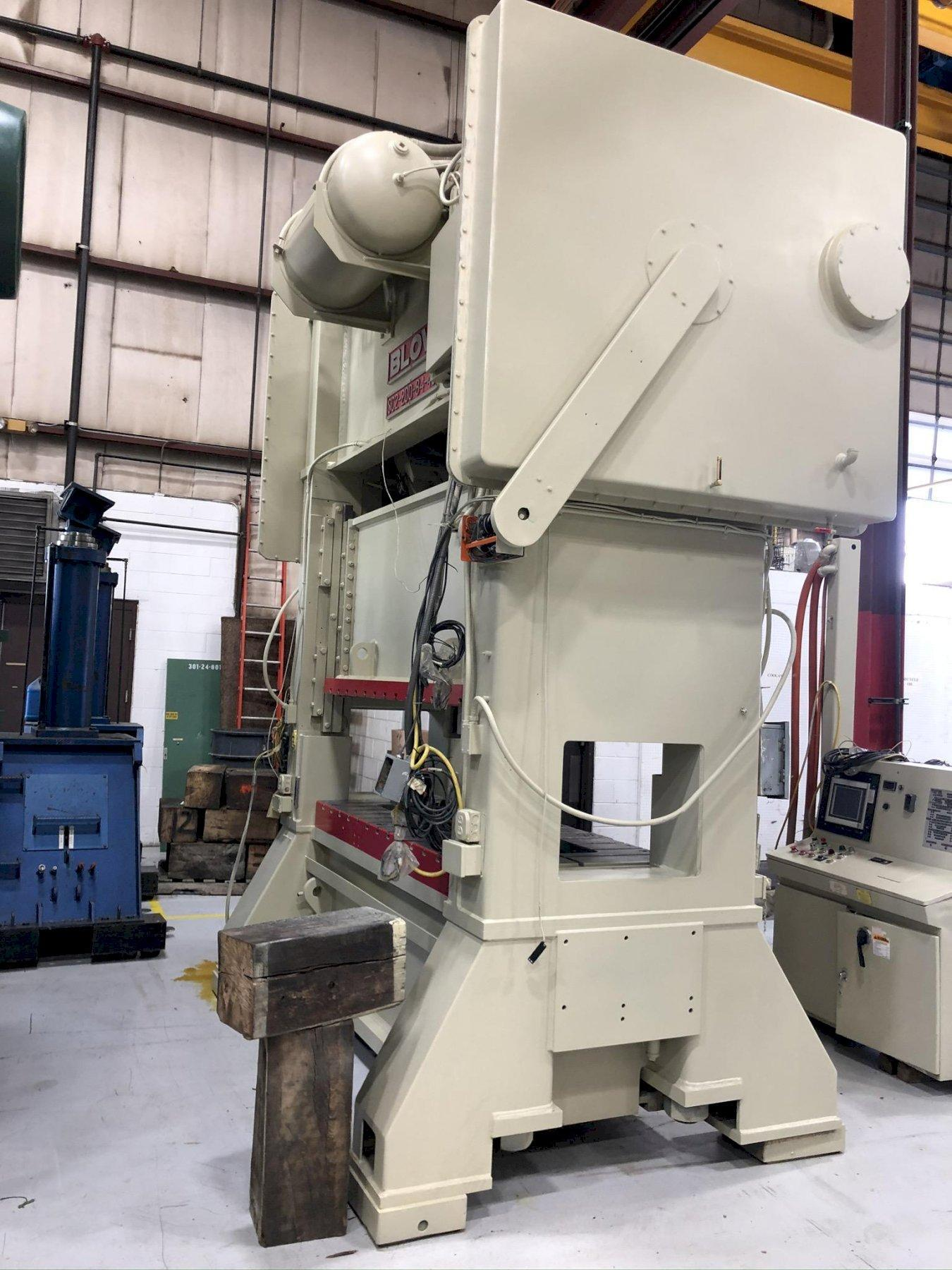 200 Ton Blow SC2-200-84-40 Straight Side Press, New 1992