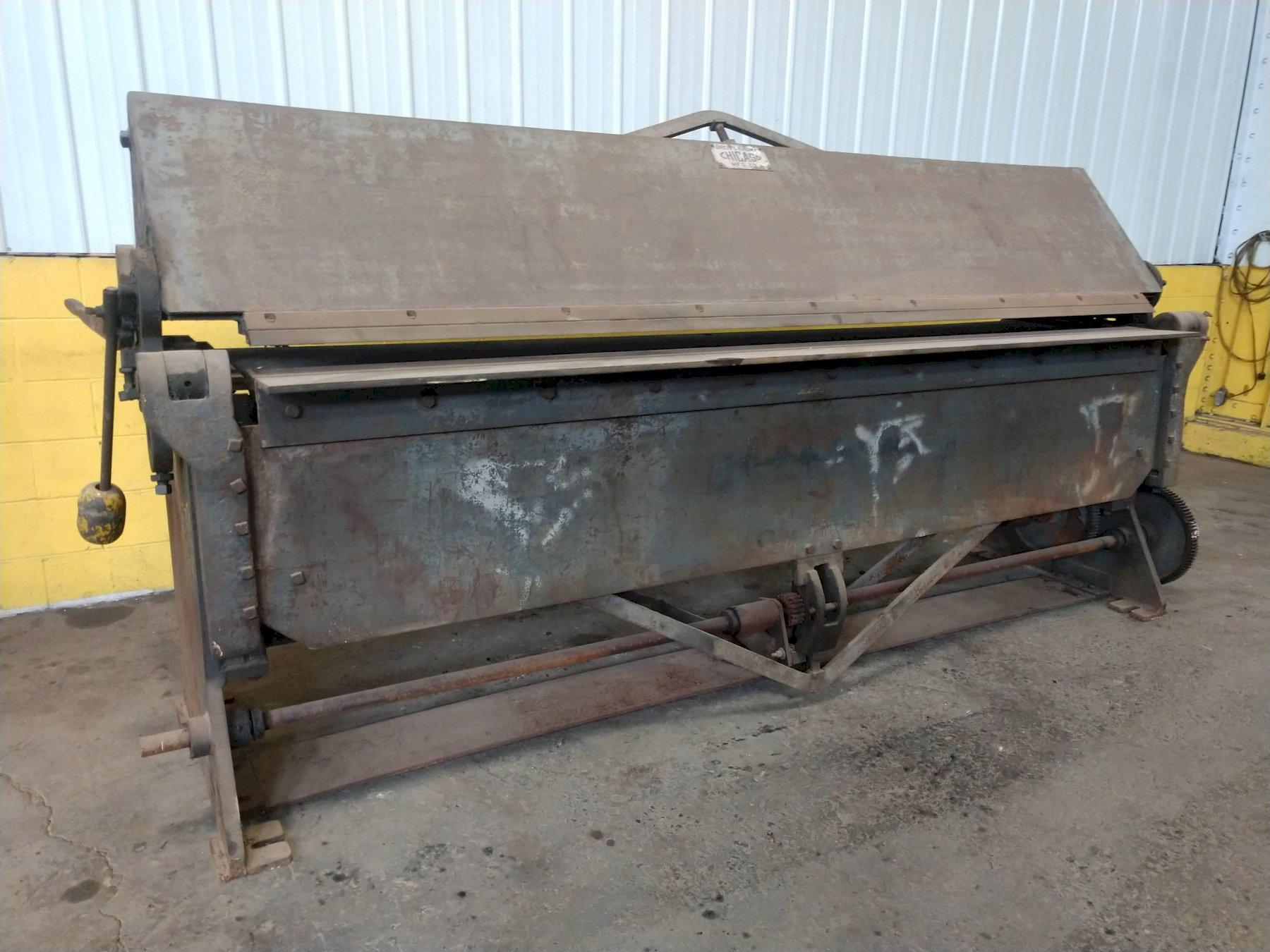 10' X 10 GAUGE DREIS & KRUMP CHICAGO D&K MODEL 204 POWERED APRON BRAKE: STOCK #14637