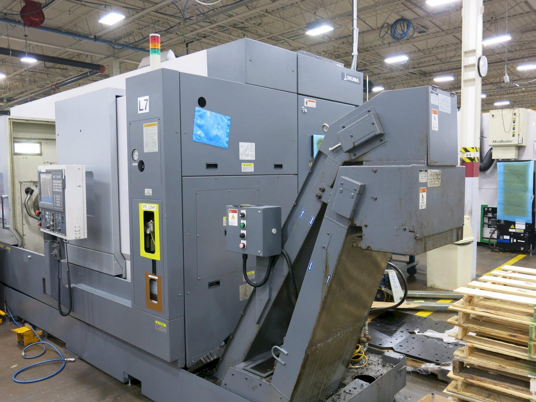 Okuma Multus B-400-W 1500 Mill Turn CNC Lathe, ONLY 2900 cutting hours, New 2011